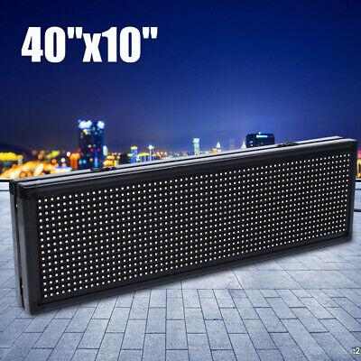 Semi-outdoor Led Sign 40x10 Full Color Programmable Scrolling Digital Billboard