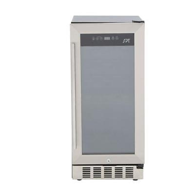 SPT WC-31U Under-Counter 32-Bottle Wine and Beverage Cooler, Stainless Steel New