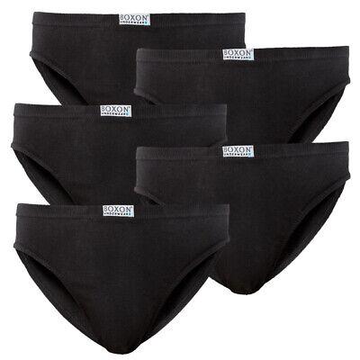 5 Stk Herren BOXON® Slip Slips schwarz 100% Baumwolle Unterhosen ÖKO-TEX®