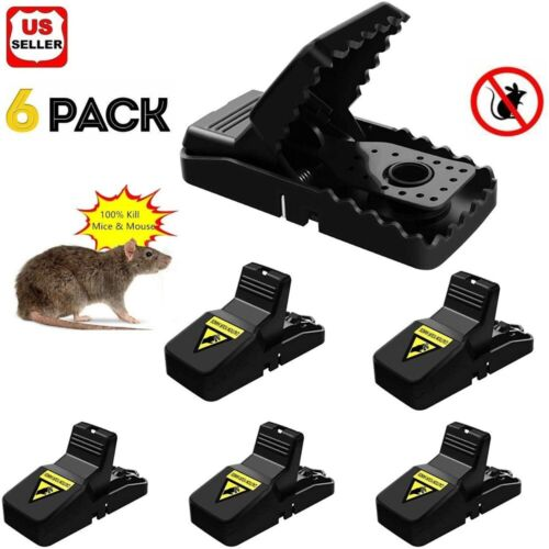 6-PACK Reusable MOUSE TRAPS Rat Trap Rodent Snap Trap Mice Trap Catcher Killer Animal & Rodent Control
