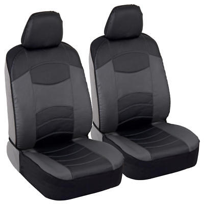 Soft & Smooth PU Leather Front Car Seat Covers - Clean Sideless Design!