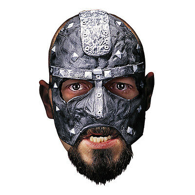 Executioner Mask Costume Black Vinyl Chinless Half Face Mask Eat and Drink Adult