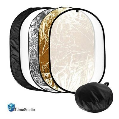 """24""""x36"""" Photo Video Studio Multi Collapsible Disc Lighting Reflector 5-in-1,"""