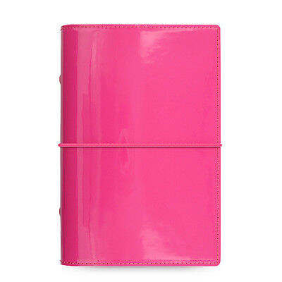 Filofax Personal Size Domino Patent Organiser Planner Diary Hot Pink 022481 Gift