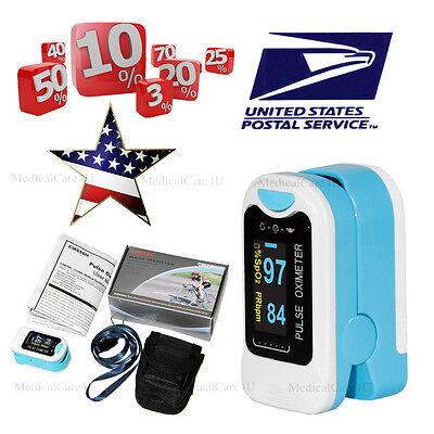 Us Finger Fingertip Blood Oxygen Meter Spo2 Oled Pulse Heart Rate Monitorpouch