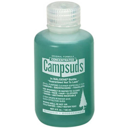 Campsuds in Nalgene Bottle- 4 oz. outdoor camping hygiene soap Made in USA - NEW
