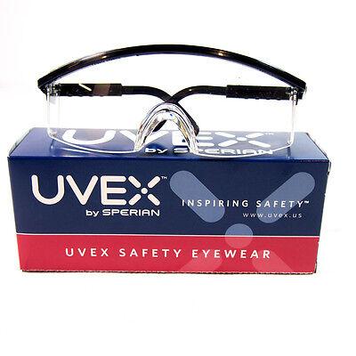 Uvex S2200C Safety Glasses Clear Anti-Fog Lens Black Frames Half-Frame