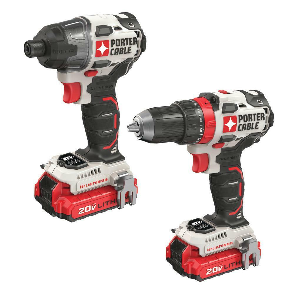 PORTER-CABLE 2-Tool 20-Volt Max Power Tool Combo Kit with Ch