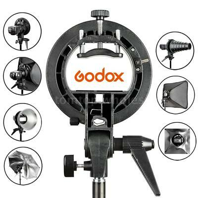 Godox S-Type Flash Speedlite Bracket Snoot Softbox Umbrella Bowens Mount Holder