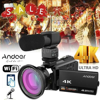 "Andoer 4K WiFi Ultra HD 1080P 48MP 16X 3"" Digital Video Came"