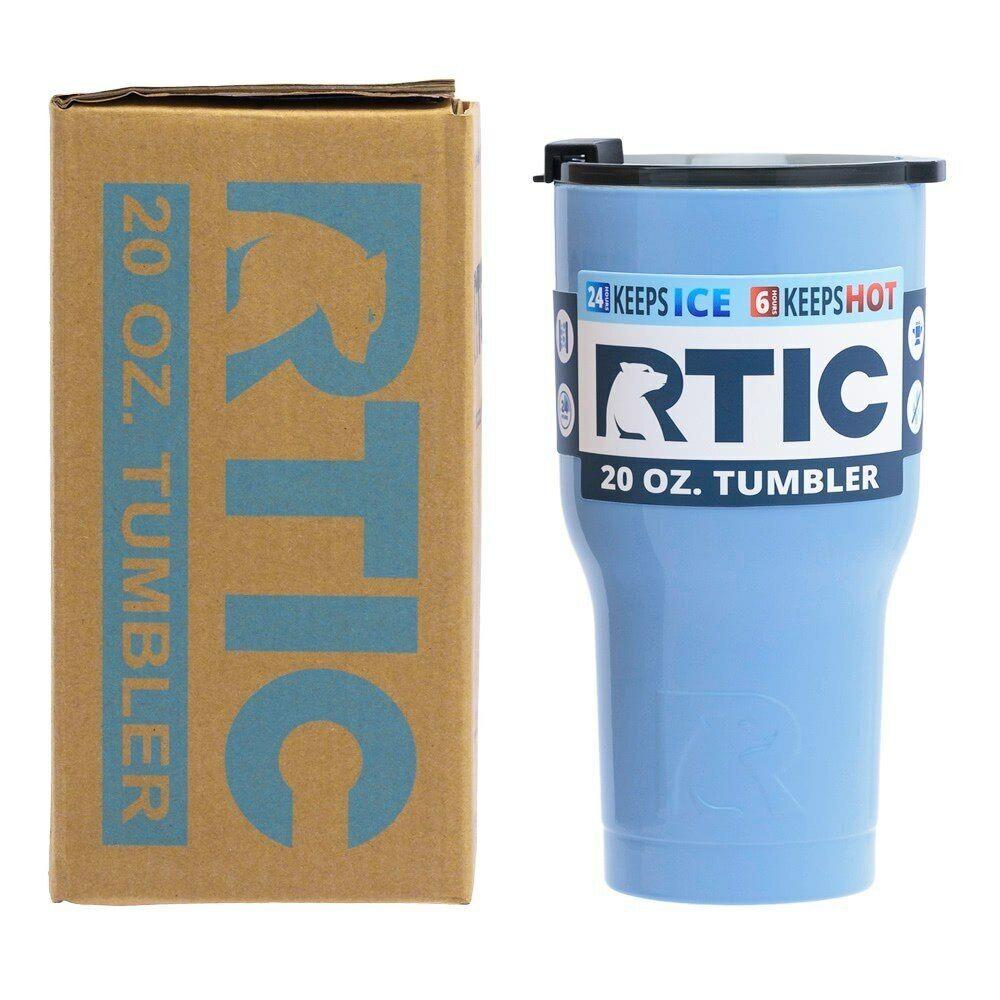 RTIC Double Wall Vacuum Insulated Tumbler, 20 oz, Carolina B