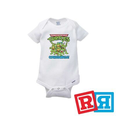 Teenage Mutant Ninja Turtles Baby Onesie 90's Bodysuit Gerber Organic Cotton