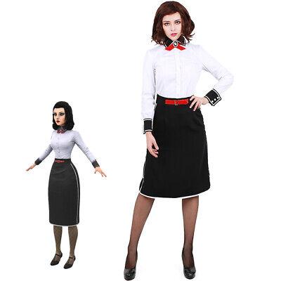 BioShock Infinite: Burial at Sea Elizabeth Cosplay Costume Fancy Dress Fullset (Elizabeth Costume)