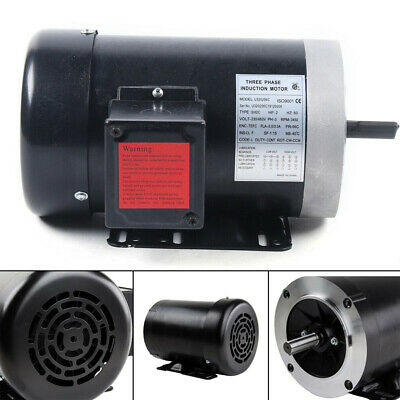 2 Hp Air Compressor Duty Electric Motor 56c Frame 3450 Rpm Three Phase 60 Hz