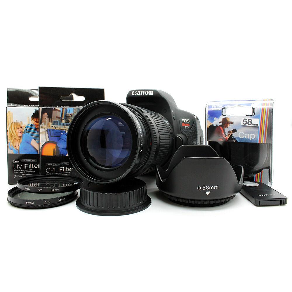 HD Telephoto lens KIT for Canon Rebel DSLR  Camera T6i T5i