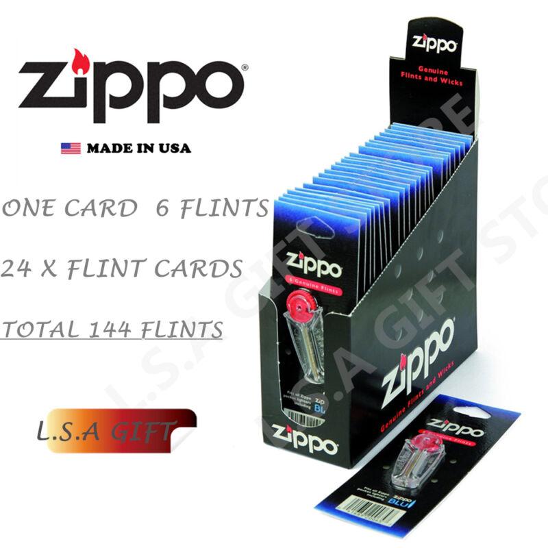 Zippo Lighter Genuine 24 Flint Card Value Pack (144 X Flints)