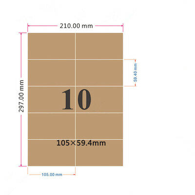 A4 Kraft Self-adhesive Printing Paper Label Blank Laser Printer Sticker Labers
