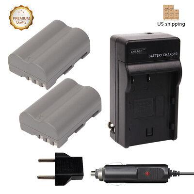 (2PACK EN-EL3E Batteries + Charger for Fujifilm D300 D80 D90 D300s D70s D50)