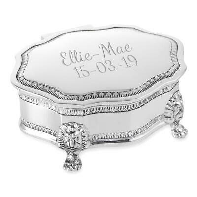 Personalised Silver Plated Art Deco Style Trinket/Jewellery Box - Engraved
