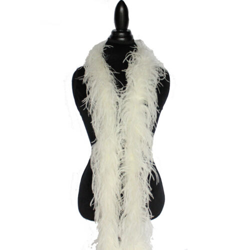 Ivory 2 ply Ostrich Feather Boa High Quality Cynthia