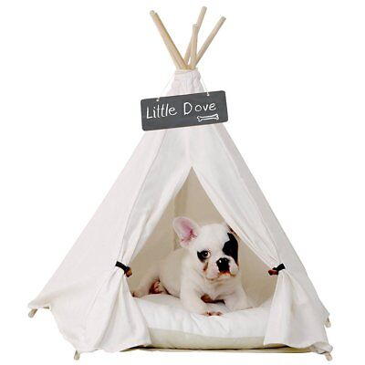 little dove Pet Teepee Dog(Puppy)  Cat Bed - Portable Pet Tents  Houses
