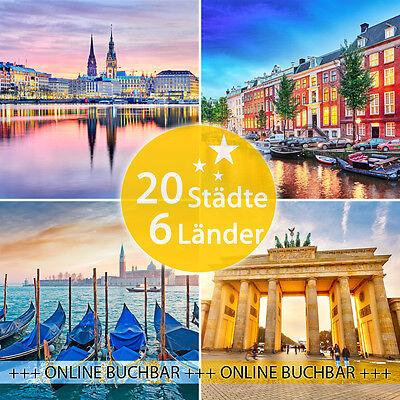 3 Tage - 20 Städte - 5 Länder: 2 Personen + Frühstück in der Stadt deiner Wahl