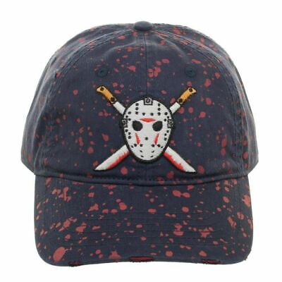 SON VOORHEES HOCKEY MASK MACHETE BLOOD STRAPBACK CAP (Jason Voorhees Machete)