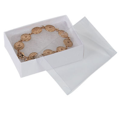 View Top Clear Lid Jewelry Boxes 100 3 116 X 2 X 1 Cotton Filled Vu-top