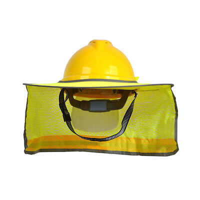 Construction Safety Hard Hat Sun Shade Reflective Helmet Neck Shield Stripe