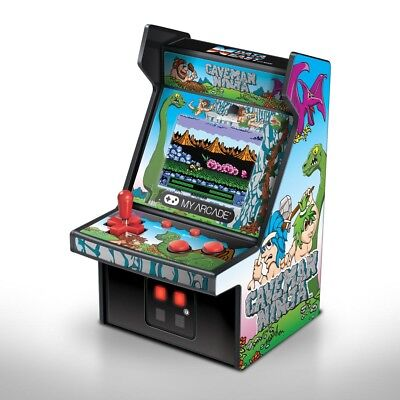 "MY ARCADE Caveman Ninja: Joe & Mac 6"" Micro Arcade Machine Portable Video Game for sale  Shipping to India"