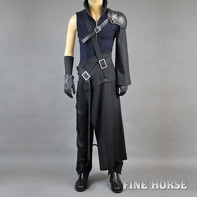 FF Final Fantasy 7 VII Cloud Strife Cosplay costum Kostüm mit Schuhe full set (Final Fantasy 7 Cloud Strife Cosplay Kostüm)