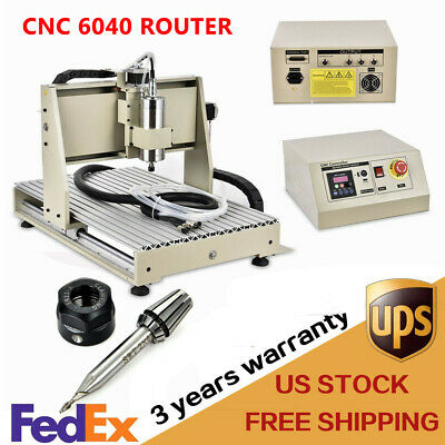 3 Axis 1.5kw Cnc Router 6040 Engraving Milling Machine Engraver Router Kit Fast