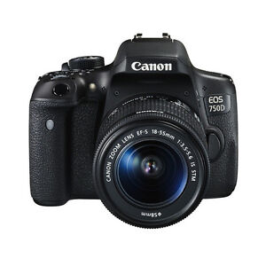 Canon EOS 750D DSLR-Kamera 24 MP Digitalkamera+ EF-S 18-55mm IS STM Objektiv NEU