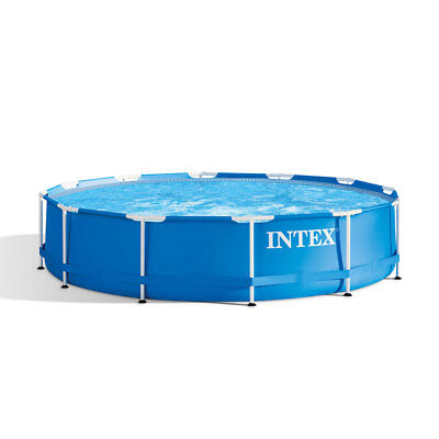 Intex 12 Foot x 30 Inches Metal Frame 1718 Gallon Capacity Above Ground Pool - 12 Foot