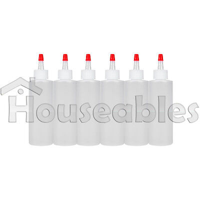 16 oz Clear Plastic Squeeze Bottle 6 Pack Condiment Sauce Dispener Container