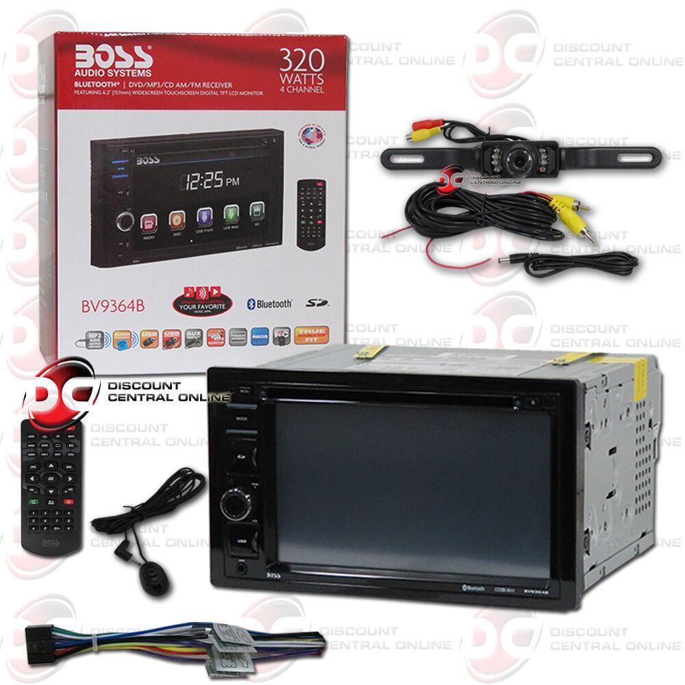 """BOSS BV9364B CAR 2DIN 6.2"""" LCD DVD CD BLUETOOTH STEREO FREE"""