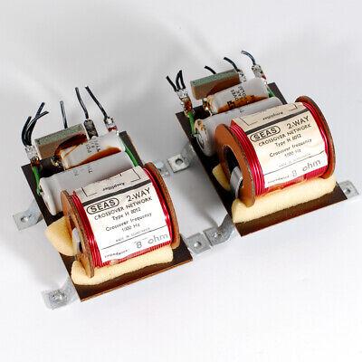 2x vintage Seas audio speaker 2-way crossover frequency 1000hz