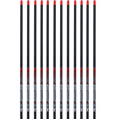 Easton Arrow Bloodline Carbon 12pk Bare Shafts 330 Spine 918779 H Nocks #18779