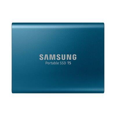 Portable 250 Gb Festplatte (Samsung T5 Portable SSD 250GB Oceanblue Multimedia externe SSD Festplatte USB)
