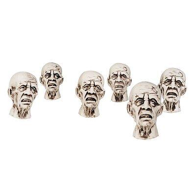 6x Zombiekopf Dekoration ca. 8,5 x 5 cm Zombies Skull