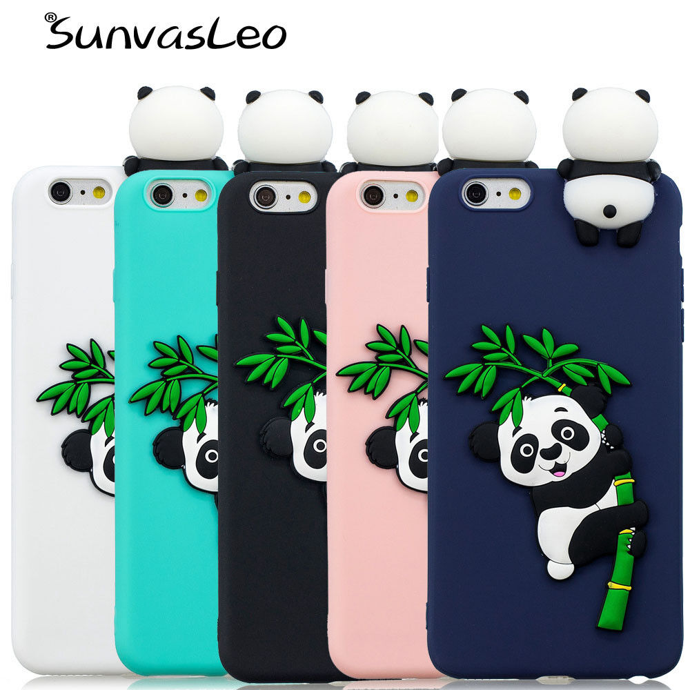 lowest price 1f32e 8bc2c Details about 3D Case Back Cover Soft Silicone Cute Cartoon Panda Cell  Phone Cases Shell Skin