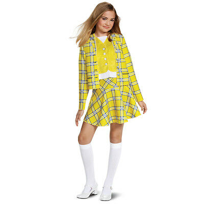 Clueless Cher Yellow Plaid Deluxe Costume M L Kids Child Cosplay Halloween](Clueless Halloween)