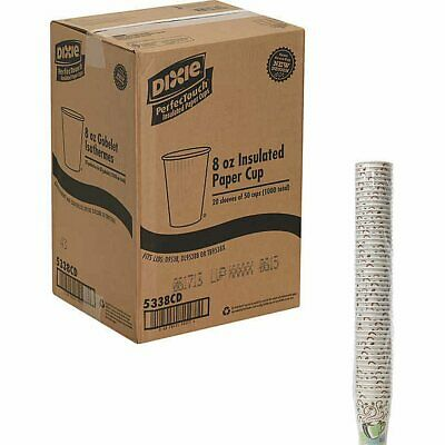 Dixie Perfect Touch Hot Cup 8 oz 1000ct, Home, Office, Events, Parties, Catering
