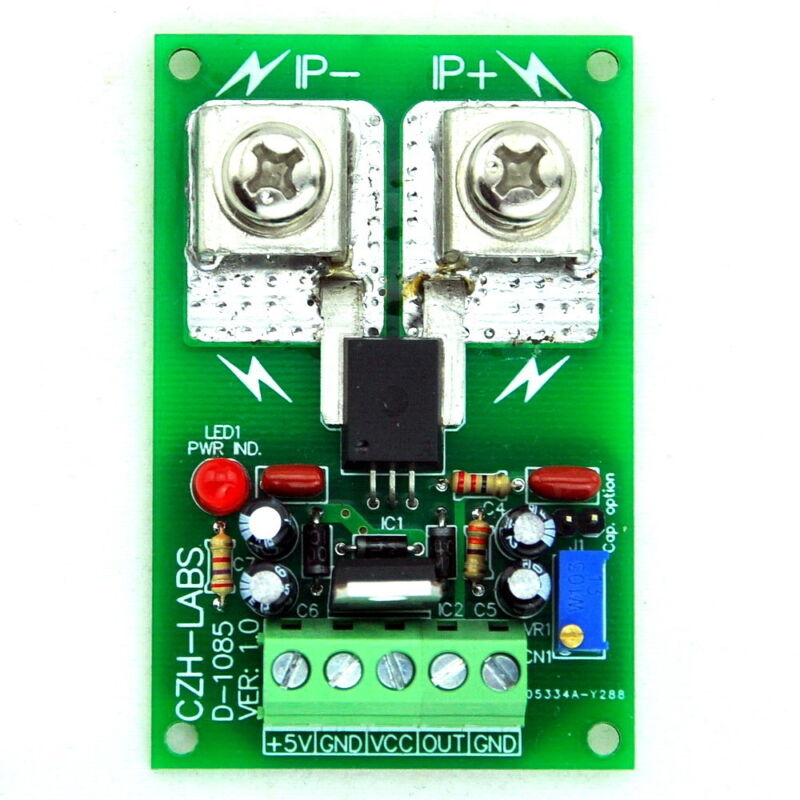 Panel Mount +/-100Amp AC/DC Current Sensor Module Board, based on ACS758