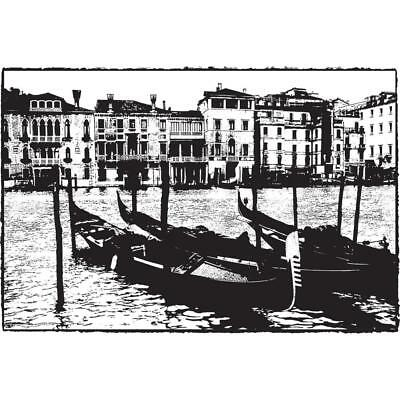 ITALY GONDOLA Photo Stamp Cling Unmounted Rubber Stamp DARKROOM DOOR DDPS004 New ()