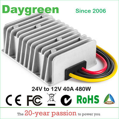 24v Step Down 12v 40a Dc Dc Converter 40amp 480w Transformer Voltage Regulator