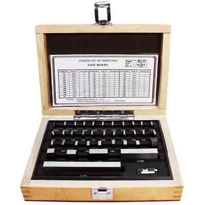 36 Pc Steel Gage Block Set .000005 Space Block Harden Gauges Gauge Block Grade B