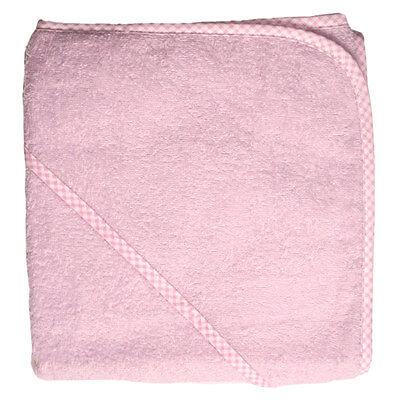 Kapuzenbadetuch Handtuch 80 x 80 cm - Rosa | 100% Baumwolle  (Kapuze Handtuch)