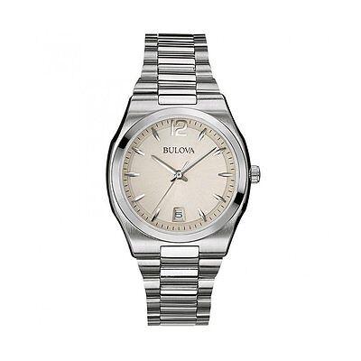 Bulova Classic Women's 96M126 Classic Quartz Grey Dial Silver Tone 34mm Watch