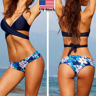 Sexy Women Bikini Set Beach Pool Swimwear Push-Up Padded Bra Swimsuit Beachwear